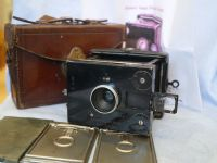'  1909  GOERZ  ' Goerz Vest Pocket Tenax Outfit Cased Inc 3x Film Backs -NICE-RARE-COMPLETE SET- £299.99